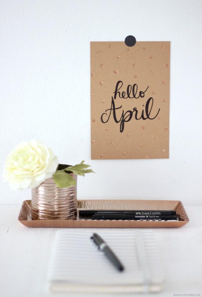 {März} Kalligraphie und Handlettering lernen