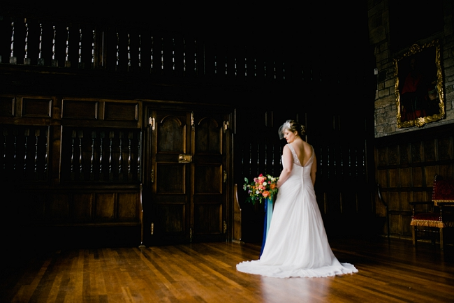 curvy bride at hoghton tower