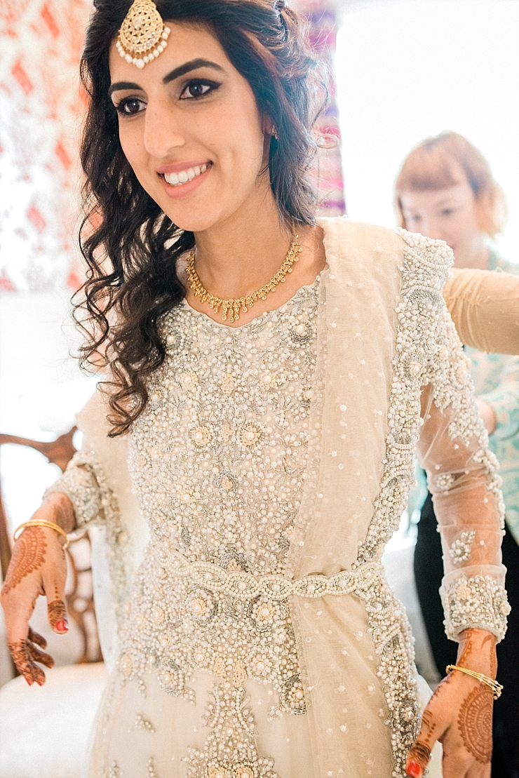 ivory bridal dress and dupatta
