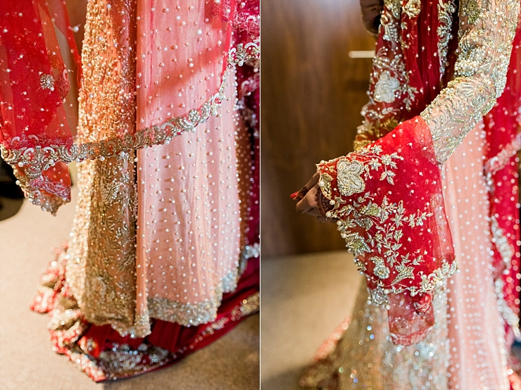 red and gold traditional wedding dress