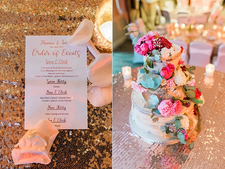 copper and pink wedding