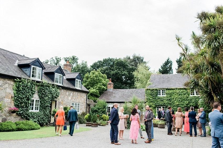 wedding guests tros yr afon