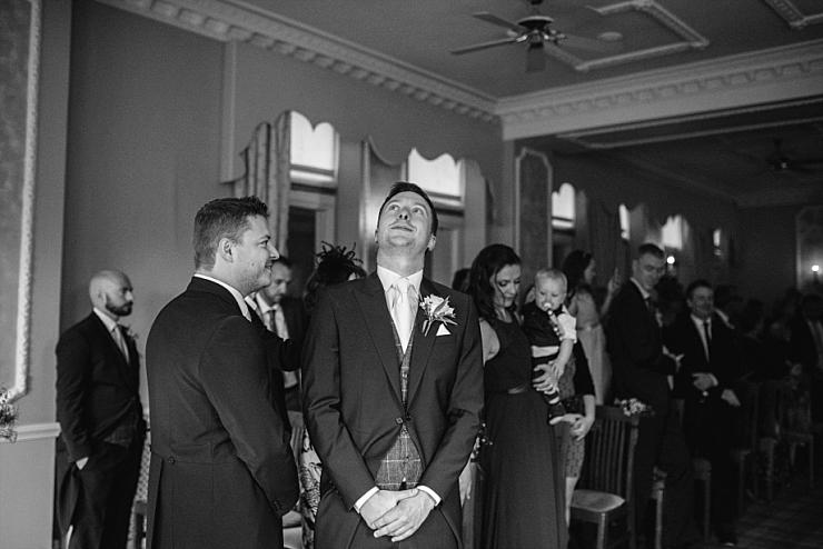 bride takes grooms breath away