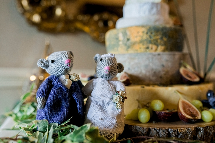 knitted wedding mice