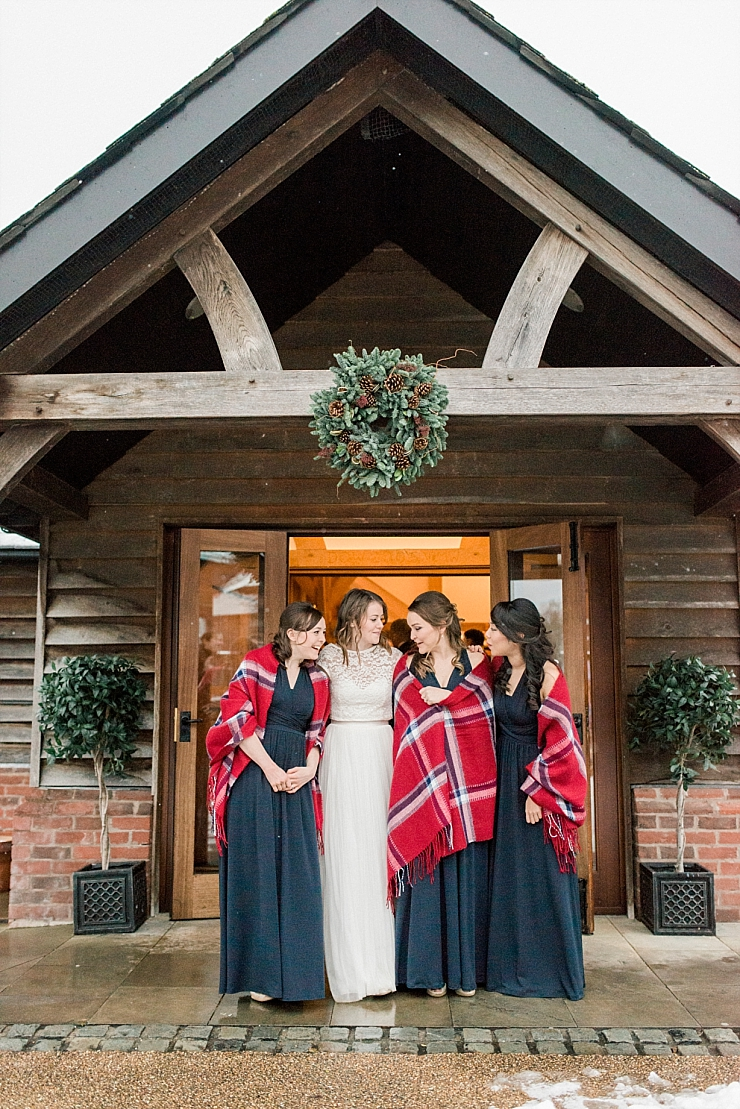 sandhole oak barn christmas wedding