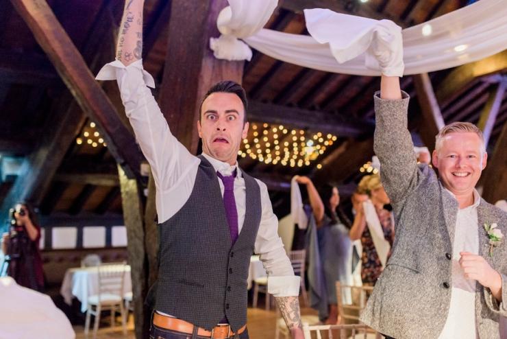 wedding fun at rivington barn