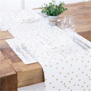 Aspire Merrily Spot Gold Table Linen