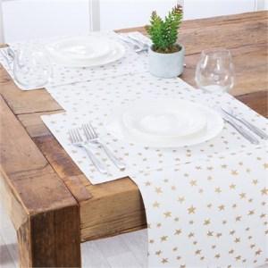 Aspire Merrily Star Gold Table Linen