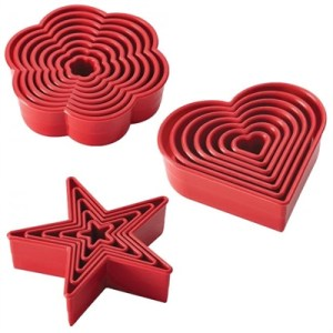 Cake Boss Cutter Kit: Star, Daisy & Heart Cutters