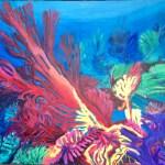 Joie des profondeurs, acrylique sur toile