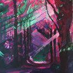 Vers le cœur de la Forêt, acrylique sur toile