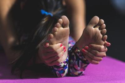 Ultimate checklist: how to overcome stress and anxiety. Yoga pose.