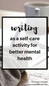 Writing as a self-care activity