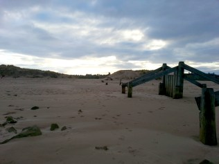 Lossiemouth as the sun is going down