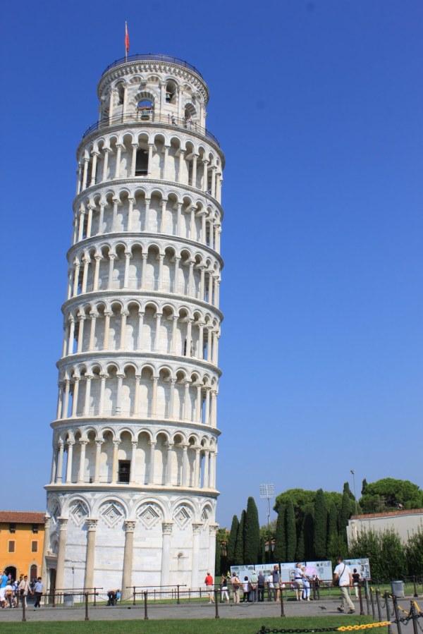 Leaning Tower Of Pisa Man Wonders World