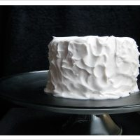 Wonderful One - Lemon Olive Oil Layer Cake with Coconut Whipped Cream Frosting