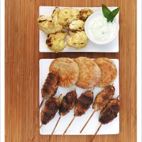 Grilled Lamb Lollypops with Cucumber Raita