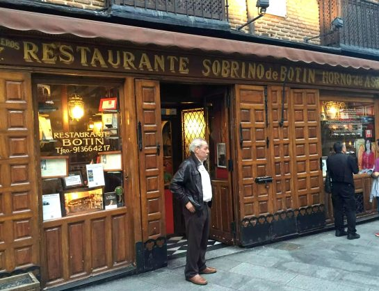 Restaurante Botin Guinness Book of records Madrid Birthday Oldest