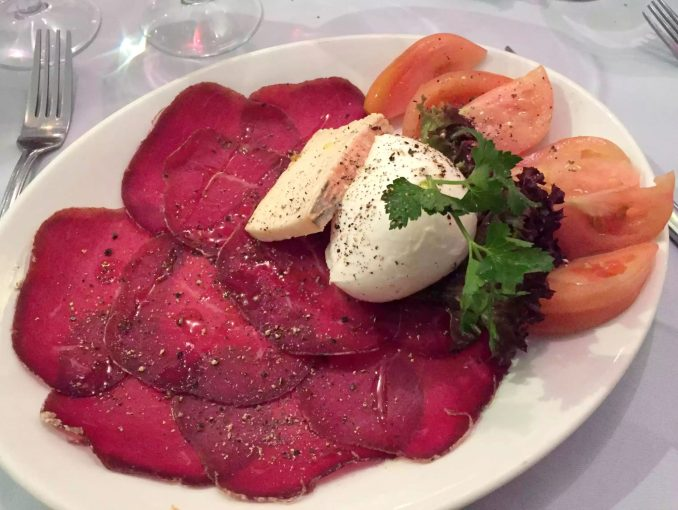 Ciao Bella Bloomsbury London Italian Restaurant Family Birthday Bresaola Mozzarella Tallegio Tomato