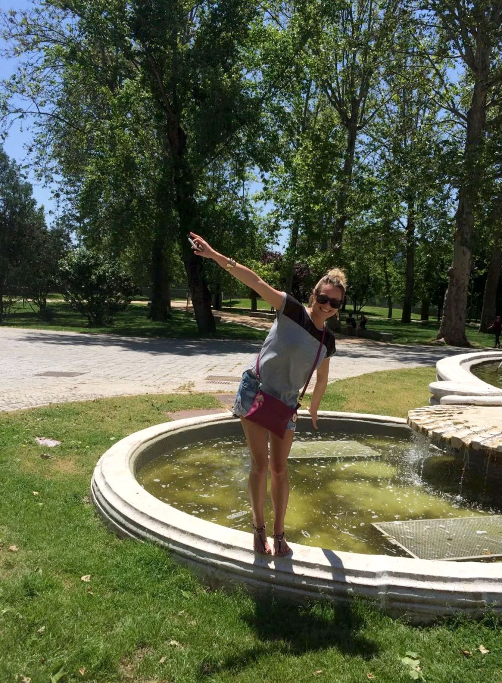 Madrid Sunshine Casa do Campo Walking Park Birthday Fountain Sound of Music