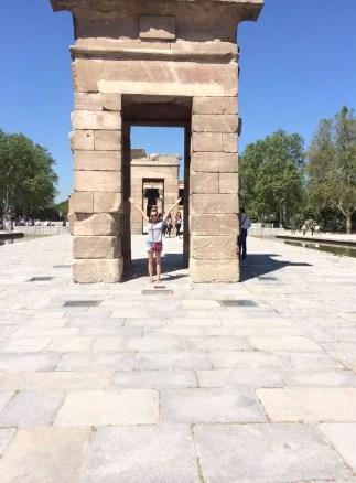 Madrid Sunshine Park del Oeste Walking Temple Debod
