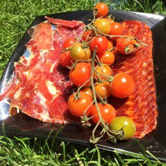 Madrid Sunshine Retiro Park Muga Red Wine Picnic Fruit Cheese Jamon Meat Chorizo