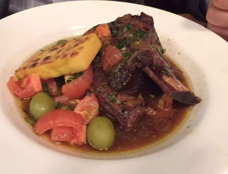 Anchor & Hope The Cut Waterloo Dinner Pub Gastropub Menu Short Rib Provencale Tomatoes Polenta