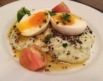 Anchor & Hope The Cut Waterloo Dinner Pub Gastropub Menu Salt Cod Brandade Egg Soft Boiled