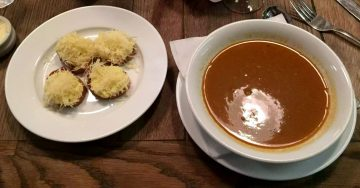 Anchor & Hope The Cut Waterloo Dinner Pub Gastropub Menu Crab Soup Comte Croutons