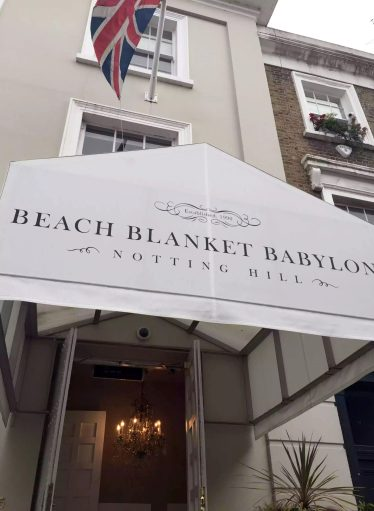 Beach Blanket Babylon Restaurant Notting Hill Birthday Dinner
