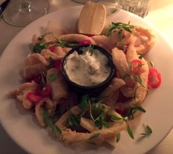 Beach Blanket Babylon Restaurant Notting Hill Birthday Dinner Tables Dining Room Cosy Romantic Crispy Chilli Squid