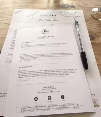 Bolney Wine Estate Sussex Tasting English Vineyard Valentines Sparkling Lunch Vines Grapes England Notes