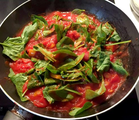 Huevos Rancheros Chorizo Baked Eggs Tomato Avocado Basil Olives Garlic Pepper Healthy Mexican SCD Paleo Dinner