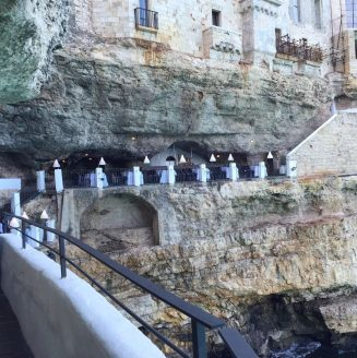 Polignano A Mare Puglia Italy Grotta Palazzese lunch Birthday Princess cave Restaurant View