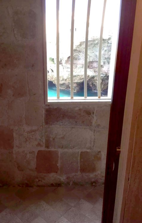 Polignano A Mare Puglia Italy Grotta Palazzese lunch Birthday Princess cave Restaurant View Loo