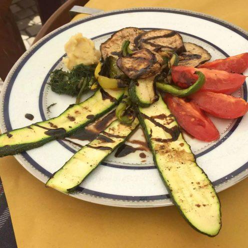 Puglia Italy Porto Cesaro il rifugio di naufrago vegetables lunch