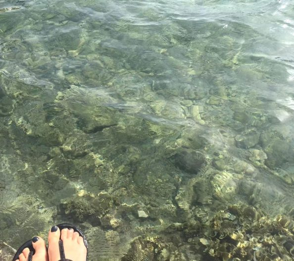 Puglia Italy Porto Cesaro Sea Toes Clear Crystal Water Sunshine