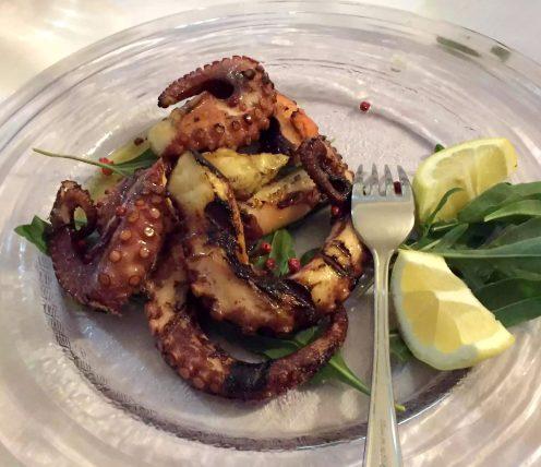 Leporino Puglia La Camelia Dinner Restaurant Octopus