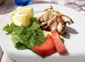Taverna de Santos Torre Canne Puglia Italy Sunshine Sunbathing Beach Relax Restaurant Octopus