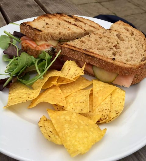 Skylark Cafe Restaurant Wandsworth Common Lunch Drinks Smoked Salmon Sandwich
