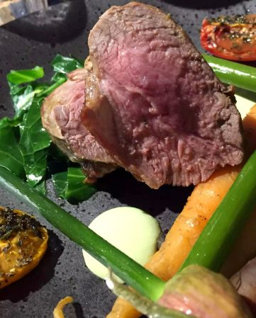 Great Northern Pub St Albans Wine Tasting Dinner Rump Lamb Garlic Scapes Heritage Tomatoes