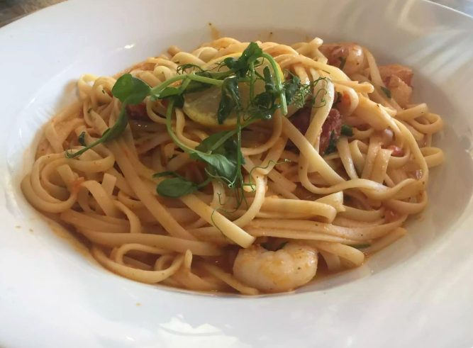 St George & Dragon Wargrave Gastropub Menu Girl's Lunch Henley Regatta Seafood Linguine