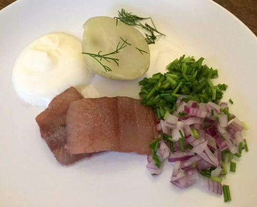 Swedish Herring Caviar Sour cream Chives Onion Dill