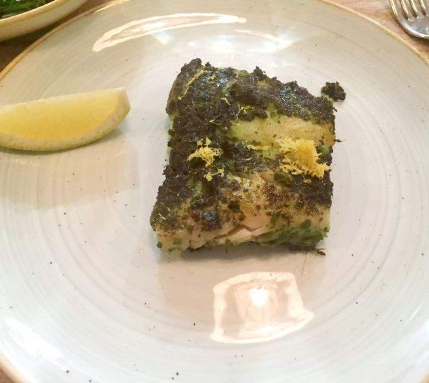 Lure Fish Kitchen North London Kentish Town Seafood Restaurant Pollock Salsa Verde