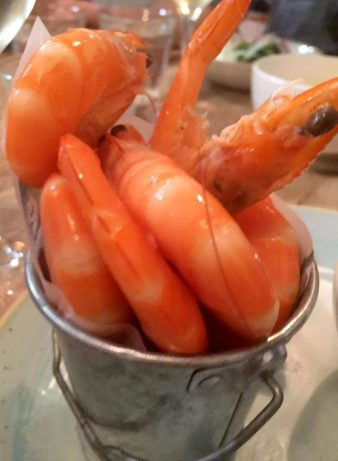 Lure Fish Kitchen North London Kentish Town Seafood Restaurant Kind Prawns