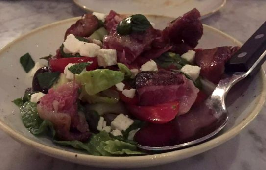 The Ninth Charlotte St Fitzrovia London Mediterranean Tapas Restaurant Jun Tanaka Lamb Shoulder Salad Watermelon Feta Tomato