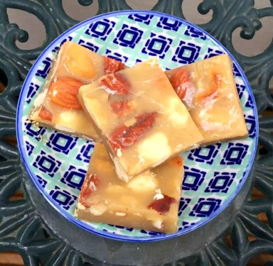 Nuts Brittle Treats Honey Butter Sugar-Free Grain-Free Gluten-Free Clean Eating SCD Paleo
