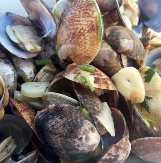 Marias Restaurant - Praia de Garrao - Algarve - Portugal - Clams Bulhao Patao Garlic White Wine Olive Oil Lemon Coriander