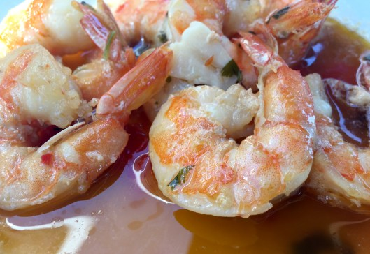 Marias Restaurant - Praia de Garrao - Algarve - Portugal - Prawns Chilli Garlic Brandy