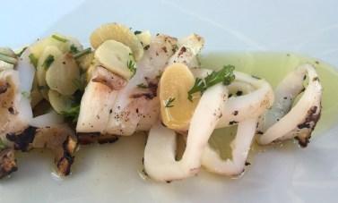 Marias Restaurant - Praia de Garrao - Algarve - Portugal - Grilled squid Garlic coriander Olive Oil Lemon